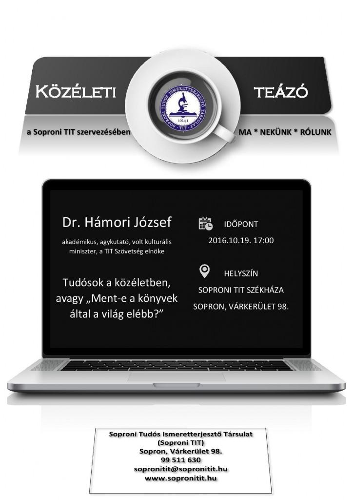 Közéleti Teázó 2016.10.19. - Dr. Hámori József