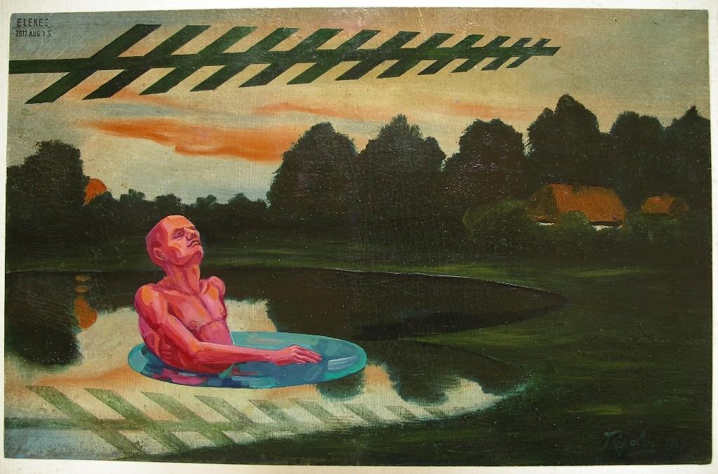 Ábránd, 1949,2012, 22x35 cm, olaj, karton