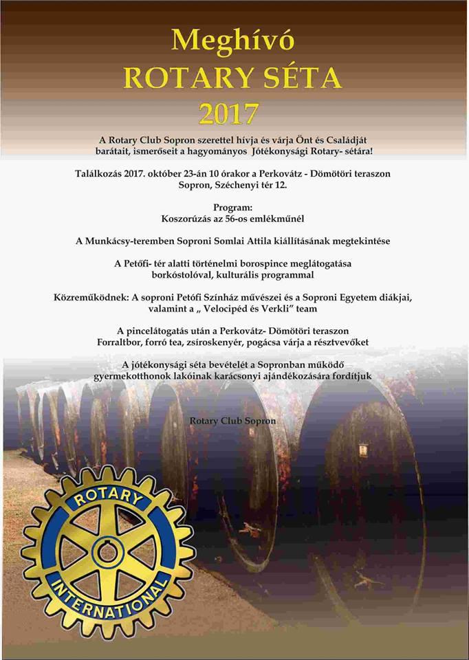 Jótékonysági rendezvény a Rotary Club Sopron szervezésében  a bevételt a  soproni gyermekotthonok részére fordítják a karácsonyi ajándékozáskor ... 0b2cf7c821