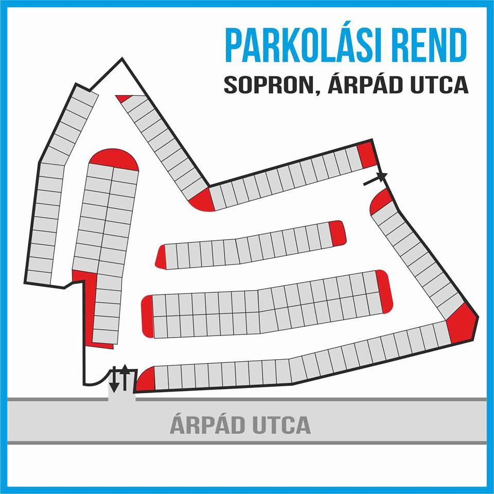 Parkolási rend, Árpád utca